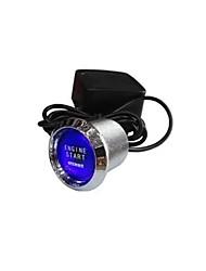 Universal Auto Car Keyless Entry System LED Illumination Engine Ignition Push Start Button Starter Kit