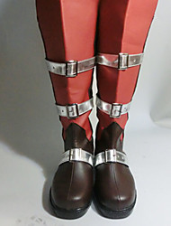 Lightning Red Black Cosplay Boots