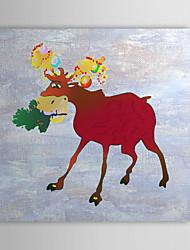 De cadeau de Noël peinture à l'huile prêt à accrocher âne prêt à accrocher