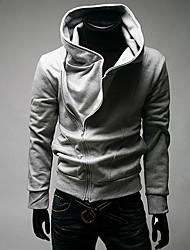 Zipper com capuz cinza claro camisa do MSUIT Homens