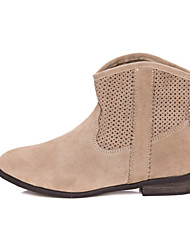 Leather Heel Kampf Ankle Boots (weitere Farben)