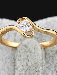 KU NIU Women's Gold Plating Zircon Ring J27050