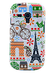 Eiffelturm und Haus Muster glänzend imd tpu Fall für Samsung Galaxy S3 i8190 Mini