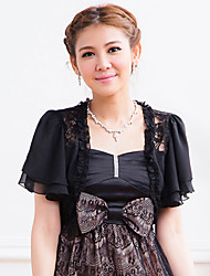 Short Sleeve Chiffon Party/Evening Evening Jackets/Wraps(More Colors) Bolero Shrug