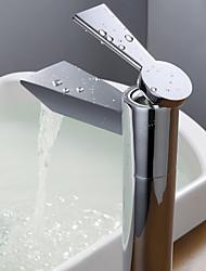 Zeitgenössisch Becken Einhand Ein Loch in Chrom Waschbecken Wasserhahn