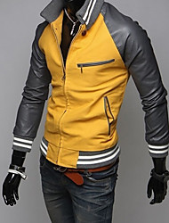 Stand Collar Big Yard Yellow Jacket Men Fannuo