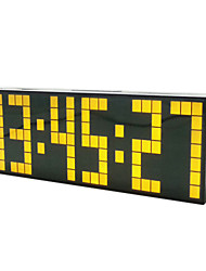 "9""Luminous LED Calendar Gold Digital Alarm Clock"