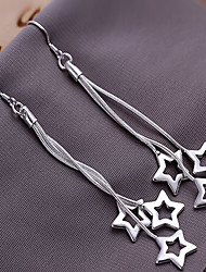 Fashion Alloy Sterling Silver Plated Star Earrings