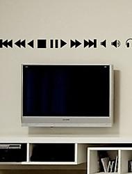 Lazer Botões de controle remoto adesivos de parede