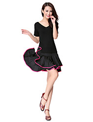 Dancewear Rayon Latin Dance Outfits For Ladies(More Colors)