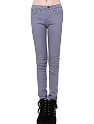 Folli Warm Slim Candy Color Skinny Pants