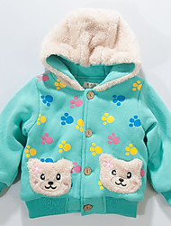 Children's with Lint Bear Dog Foot Print Cotton Padded