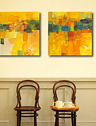 Stretched Canvas Print Art Landscape Small Town Set of 2