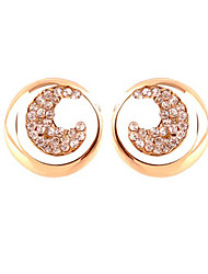 AZS Diamond Moon And Sun Stud