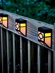 2-LED Warm Yellow solarbetriebene Wandhalterung Laterne Licht Deck Lampe