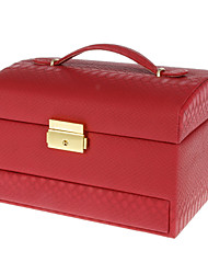 Red High Quality PU Leather Cosmetic Box