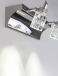 Crystal/LED/Bulb Included Bathroom Lighting , Modern/Contemporary LED Integrated Metal