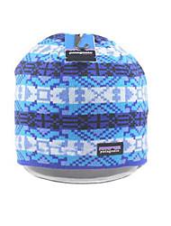 Chapéu colorido listra de malha de lã