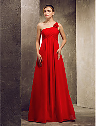Lanting A-line Strapless hem-length Satin Bridesmaid Dress