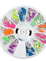 1PCS pneus décorations colorées de forme de waterdrop Rivet à ongles