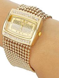 Women's Diamante Case Alloy Band Bracelet Watch Cool Watches Unique Watches