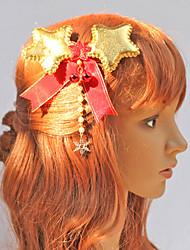 Golden Stars Weihnachtsschmuck mit Red Bow