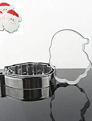 Père Noël Forme Cookie Cutters Set, 3 Pièces Acier inoxydable