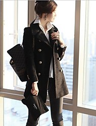 Women'S Double Breast Wool Bodycon Coat