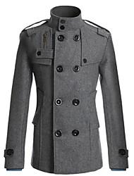 Wshgyy Мужская Корея Fit Длинные Разделы Пальто