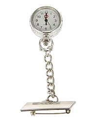 La aleación de plata del análogo de cuarzo de la enfermera del reloj de bolsillo de la Mujer