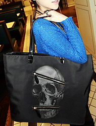 Black Cat Women's  Skull Print Shoulder Bag