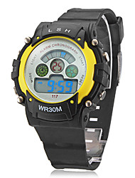 Mulheres Relógio Esportivo Relogio digital LCD Quartzo Digital Banda Preta