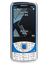 D611 2.9 '(240 * 320) doble tarjeta de teléfono celular de FM Bluetooth linterna banda cuádruple