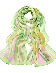LAFUSOKU Women's Abstract Milky Way Print Chiffon Shawl (160*50cm)