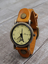 Meizhilan Fashion Eiffel Tower Pattern Watch
