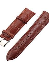 Unisex 22mm Crocodile Grain Leather Watch Band (verschillende kleuren)