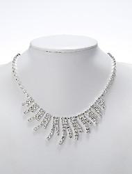 Rich Long Women's Stripe Necklace With Earring Suit