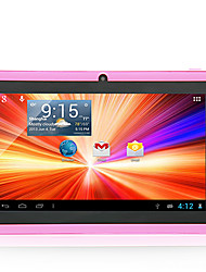 "8GB 7"" A33 Capacitive Android 4.4 Dual Camera Wifi Tablet PC Pink Bundle Case"