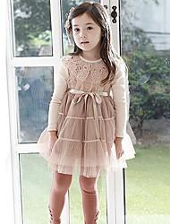 Girl's Dress Cotton Blend Winter