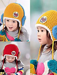 Kinder-Cartoon-Kopfhörer Fünf-Sterne-Lächeln Strickmütze