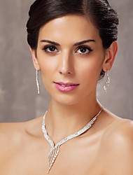 Gorgeous Alloy With Austria Rhinestones Wedding Bridal Jewelry Set,Including Necklace and Earrings