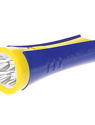 OMEIKA OMK-3213 2-Mode Rechargeable 9xLED Flashlight (Built-in Battery, Blue + Yellow)