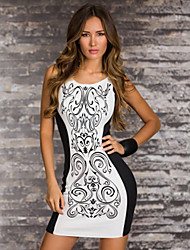 LingerieOcean Mini Bodycon Kleid Celeb Kontrast Stretchfolie Party New Top