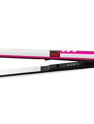 "NEW 360 ROTATING 1"" Professional Vibrate Plate Titanium brazilian Hair Straightening Flat Iron Black US Plug"