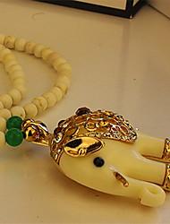 Бафана Новый Утонченная Слон подвеска свитер ожерелье