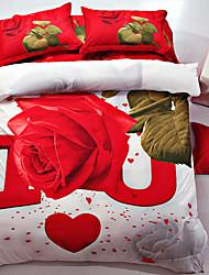 Floral Polyester Duvet Cover