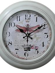 "12,75 ""libélula de metal relógio de parede h país"