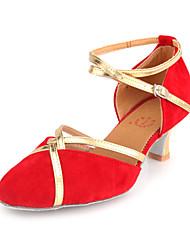 Women's Suede Upper Ankle Strap Modern / Ballroom Dance Shoes