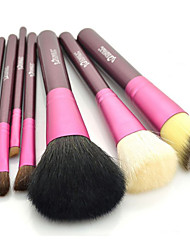 Pro High Quality 7 PCs Natural Goat Hair Makeup Brush Set with Color Brush Cylinder Tube(4 Color)