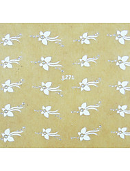 1PCS Mini Motif Fleurs Wedding Nail Art Sticker